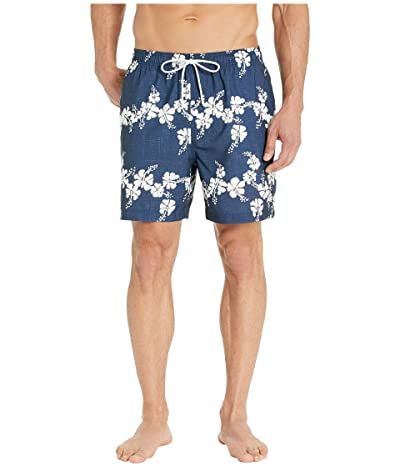Southern Tide Reyn Spooner Aloha Floral Swim Trunks (True Navy) Men