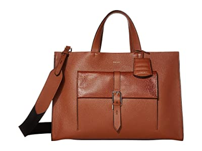 REISS Picton Satchel (Deep Hazel) Handbags