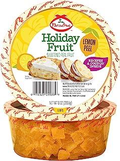 Paradise Diced Lemon Peel, 8 Ounce (Pack of 1)