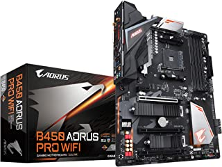 GIGABYTE B450 AORUS PRO Wi-Fi (AMD Ryzen AM4/ATX/M.2 Thermal Guard with Onboard Wi-Fi/HDMI/DVI/USB 3.1 Gen 2/DDR4/Motherbo...