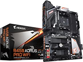 GIGABYTE B450 AORUS PRO WIFI (AMD Ryzen AM4/ATX/M.2 Thermal Guard with Onboard WIFI/HDMI/DVI/USB 3.1 Gen 2/DDR4/Motherboard)