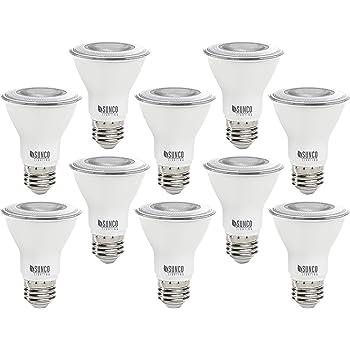 Sunco Lighting 10 Pack PAR20 LED Bulb, 7W=50W, Dimmable, 3000K Warm White, E26 Base, Indoor/Outdoor Spotlight, Waterproof - UL & Energy Star