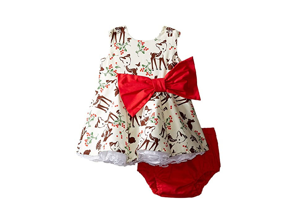fiveloaves twofish Little Party Little Deer Dress (Infant) (Red) Girl
