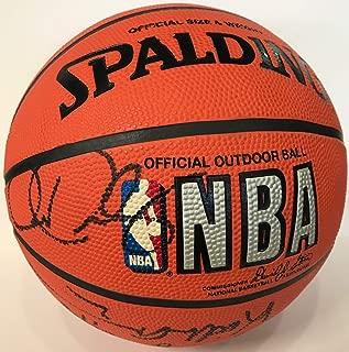 1996-97 Miami Heat Signed Spalding Basketball