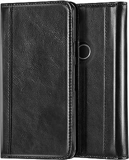 ProCase Genuine Leather Case for Pixel 3, Vintage Wallet Folding Flip Case with Kickstand Card Holder Protective Cover for Google Pixel 3 (2018 Release) -Black