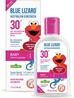 Blue Lizard Baby Mineral Sunscreen with No Chemical Ingredients SPF 30 UVA/UVB Protection, 5 oz Bottle