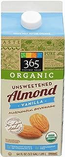 365 Everyday Value, Organic Almondmilk Unsweetened Vanilla, 64 fl oz