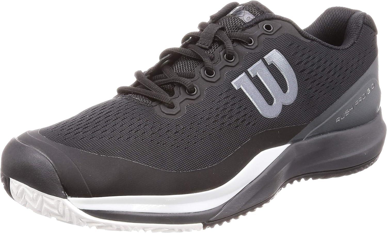 WILSON Rush Pro 3.0 Mens Tennis shoes (Black White)