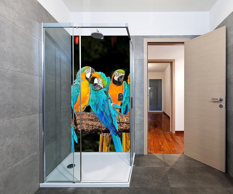 Wandmotiv24 Duschrückwand Aras 100 x 200cm (B x H) - Aluminium 3mm Duschwand Design, Keine Fugen M1047