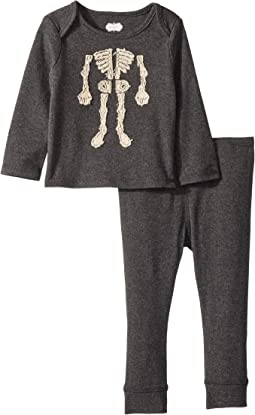 Halloween Skeleton Long Sleeve Two-Piece Set (Infant)
