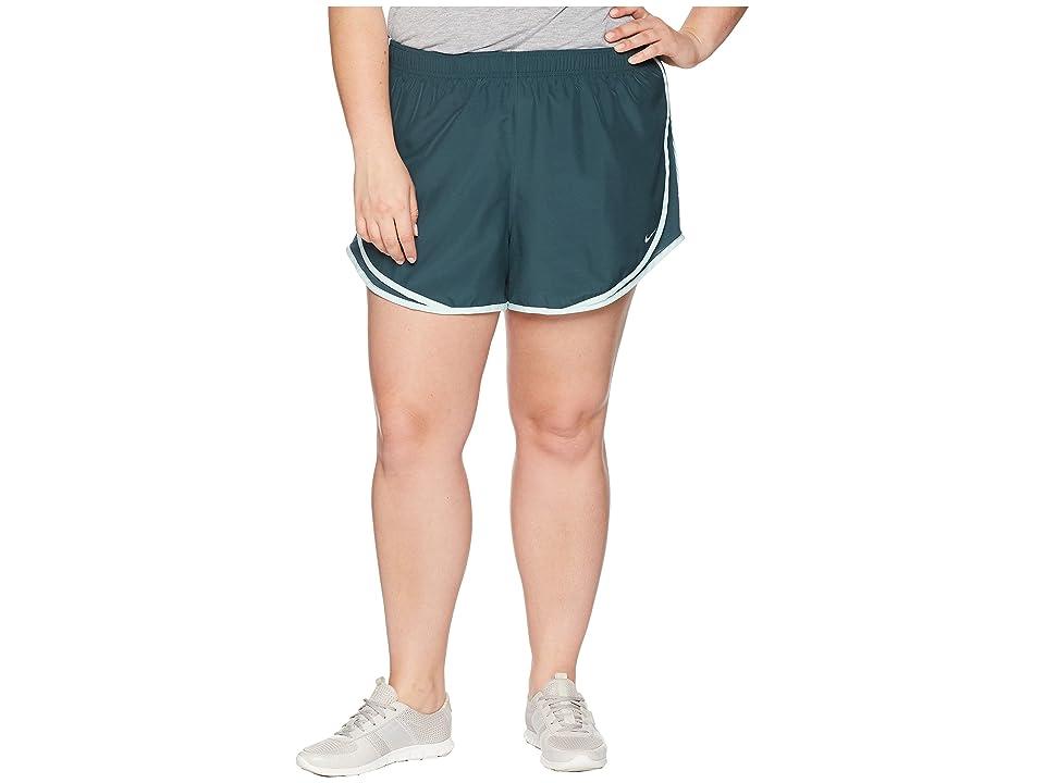 Nike Dry Tempo 3 Running Short (Size 1X-3X) (Deep Jungle/Deep Jungle/Igloo/Wolf Grey) Women