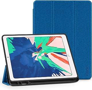 TUCCH iPad Air 10.5 ケース【永久保証】iPad Air 2019 カバー 合皮 TPU オートスリープ マグネット 三つ折りスタンド機能 Apple Pencil収納 衝撃吸収 スリム 人気 iPad Air 3対応 ダークブルー