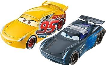 Mattel Disney Cars FCX95–Coches de Carrera de Cars 3 de Disney