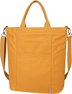 Iswee Large Canvas Shoulder Tote Bag for Women Casual Handbags Work Bag Shopping Travel bag Crossbody