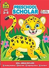 School Zone - Preschool Scholar Workbook - 64 Pages, Ages 3 to 5, Preschool to Kindergarten, Reading Readiness, Early Math...