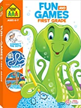School Zone - Fun and Games First Grade Activity Workbook - 320 Pages, Ages 6 to 8, Hidden Pictures, Mazes, Dot-to-Dots, Coloring, Codes, What's Different, and More (School Zone Big Workbook Series)