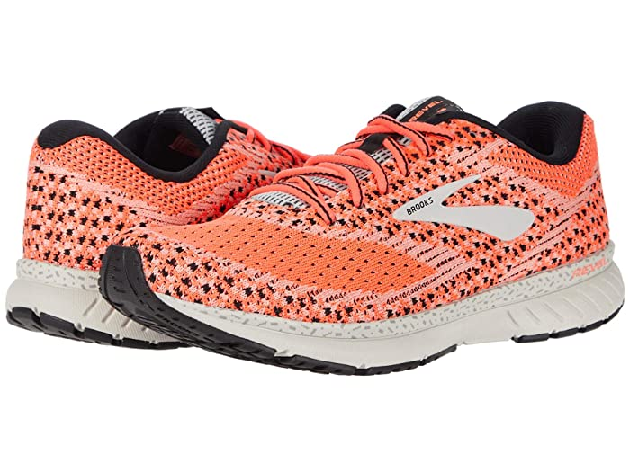 Brooks  Revel 3 (Fiery Coral/Pink/Black) Womens Running Shoes