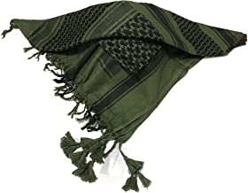 DonovanRR, Premium Shemagh Tactical Scarf, Military, Sports, Neck, Wrap,Desert, Keffiyeh, Square, 100% Cotton, (Tactical Olive)