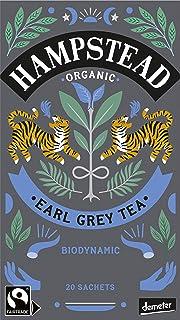 Hampstead Earl Grey Tè Nero Biologico e Biodinamico con Bergamotto - 1 x 20 Bustine di Tè 40 Grammi
