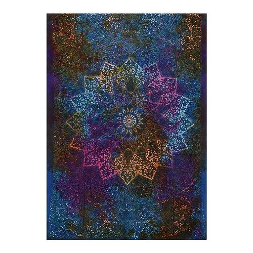 Tapisseries D/écoratives Tapisserie murale Motif arbre For/êt Psych/éd/élique Tapisserie boh/émienne D/écoration pour salon ou chambre153x130cm