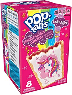 2 Pack - Pop Tart Unicorn Frosted Sparkle-Licious Cherry Limited Edition! 2 Boxes - 8 Toaster Pastries in each box!