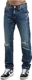 Men's Geno Super T Slim Distress Jeans w/Rips in Worn Blue Bluff