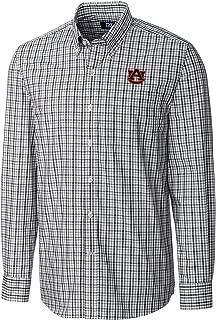 NCAA Auburn Tigers Men's Long Sleeve Gilman Plaid Shirt, Medium, Liberty Navy