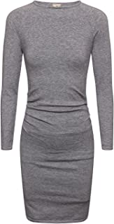 CANALSIDE Bodycon Sweater Dresses for Women Fitted Long Sleeve Scoop Neck Knit Wear