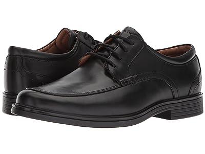 Clarks Un Aldric Park (Black Leather) Men