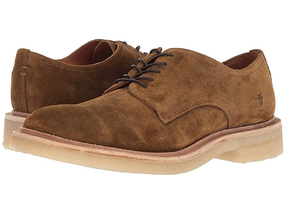 Frye Chris Crepe Oxford (Tan Washed Waxed Suede) Men
