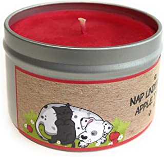 Rescue Tins Apple Cinnamon Super Scented Odor Eliminating 100% Pure Soy Candle- Handpoured in The USA- -Nap Under The Apple Tree