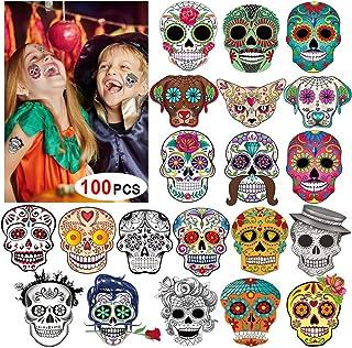 HOWAF 100 Stück Halloween Temporäre Tattoo Aufkleber Für