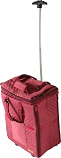dbest products Smart Cart Expandable Tote Travelux Series, Saffron Premium Quilted Weekender Bag Carry-on