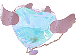 LB-252 Herz Engelsfügel Hologram durchsichtig Tasche Lolita Pastel Goth Kawaii
