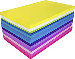 Fibre Craft Foam-Sheets 5-1/2-Inch-by-8-1/2-Inch 50-Pack, Bright Colors