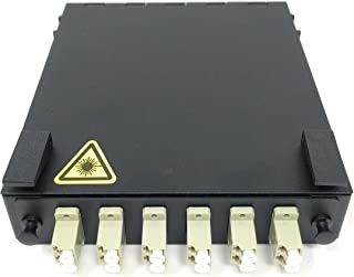 Ultra Spec Cables Wall Mount Fiber Enclosure with Spool and Loaded 6 Port LC-UPC OM1/OM2 Multimode Duplex LGX Panel