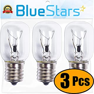 Ultra Durable 8206232A Microwave Light Bulb Replacement Part by Blue Stars - Exact Fit for Whirlpool Maytag Microwaves - Replaces 8206232A 1890433 8206232 AP4512653 - PACK OF 3
