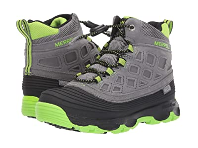 Merrell Kids Thermoshiver 2.0 Waterproof (Little Kid/Big Kid) (Grey/Black/Green) Boys Shoes