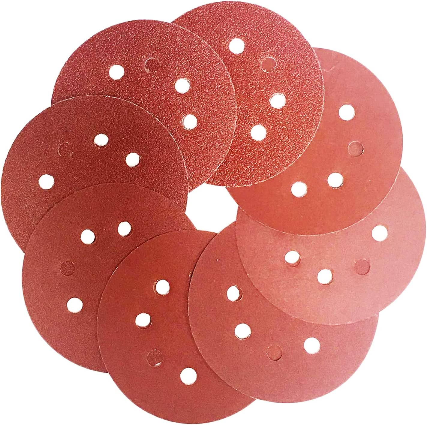Inexpensive 80pcs 5-Inch Sanding discs Ranking TOP4 8 Holes Loop Ass Pads Sander and Hook