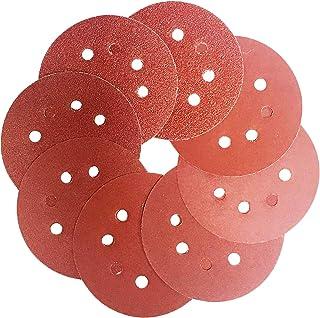 5-Inch Hook and Loop Sanding discs sander pads 40 60 80 120 240 320 800 1000 Grit 8-Hole sandpaper,Assorted for Orbital Sander