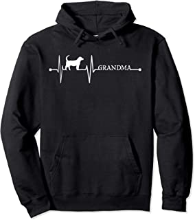 Beagle Grandma Heartbeat Gift EKG Beagles Dogs Lover Funny Pullover Hoodie