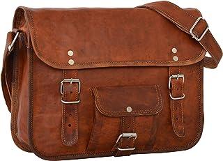 Gusti Umhängetasche Collegetasche Ledertasche Vintage Braun Leder