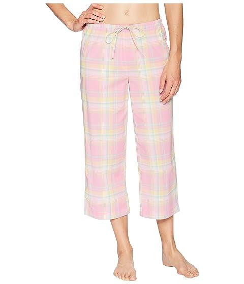4 3 Ralph conjunto Plaid manga LAUREN muesca Lauren Pink pijama Capris R1tHWcq