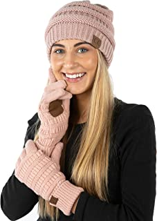 Beanie and Lined Glove Set (E3 & G2) - Indi Pink