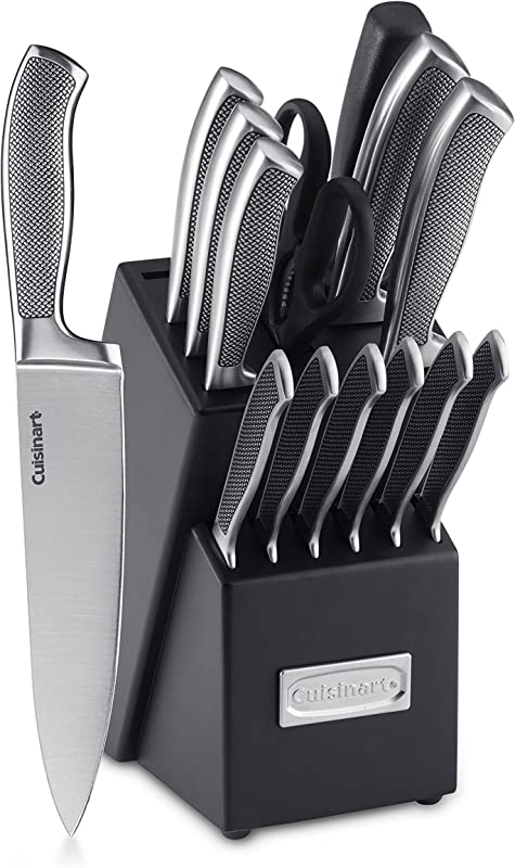 Cuisinart C77SS 15P Graphix Collection 15 Piece Cutlery Knife Block Set Stainless Steel