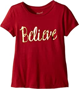 The Original Retro Brand Kids - Believe Crew Neck Tee (Big Kids)