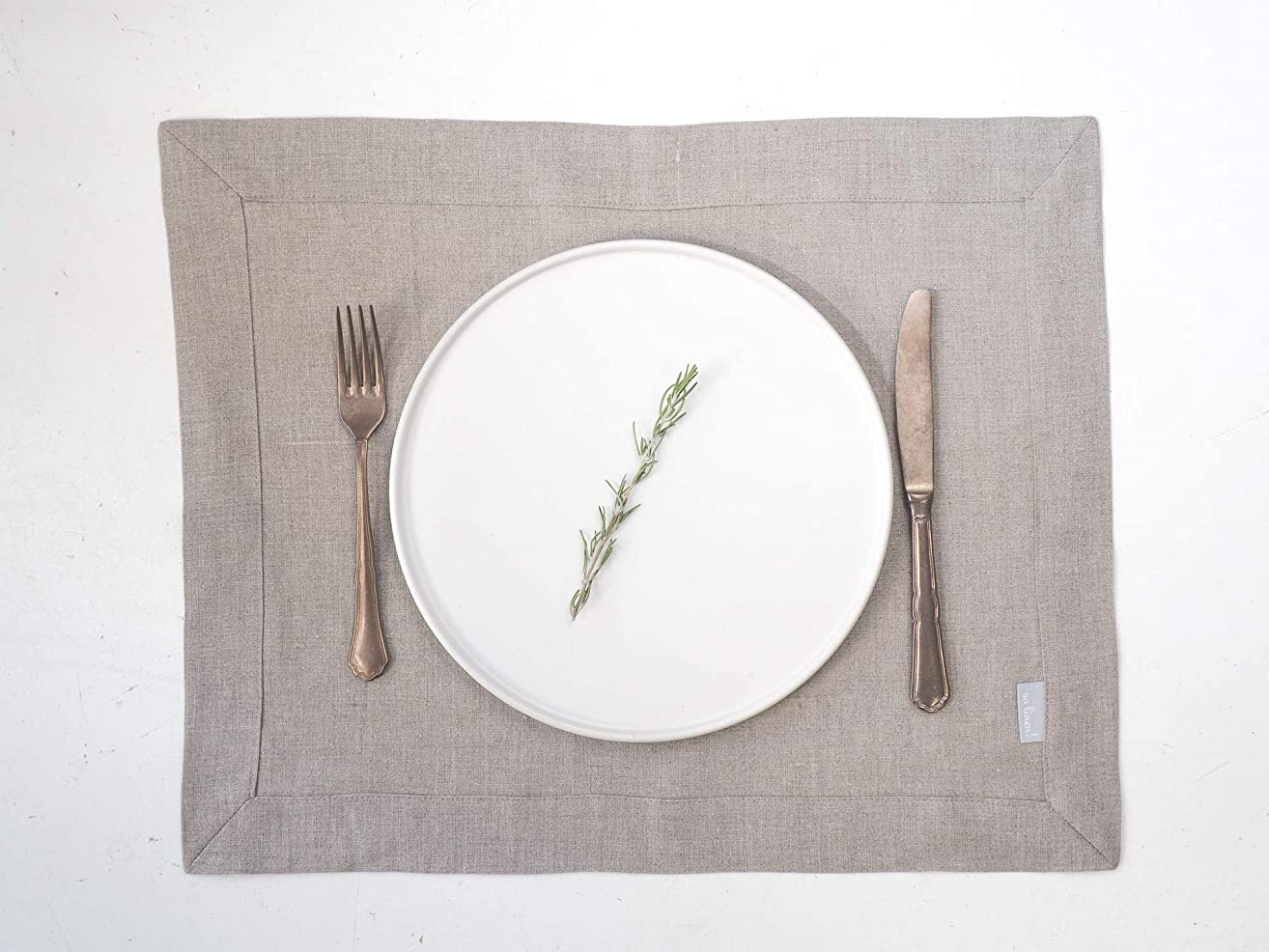 Linen Placemats SET of 2, Fabric Placemats, Natural linen Placemats, Cloth Placemats, Table Placemats, Table Linens, Custom placemats, table linens