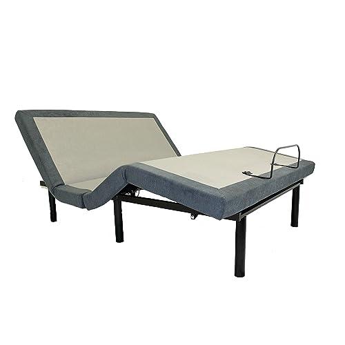 iDealBed Custom Comfort Adjustable Bed Base, Wireless, Massage, USB Charge Ports, Nightlight