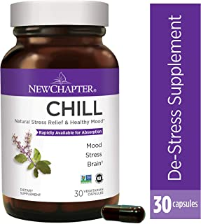 New Chapter Stress Relief, Mood Support, Stress Relief Supplement with Holy Basil + Gluten Free - 30ct (1 Month Supply)