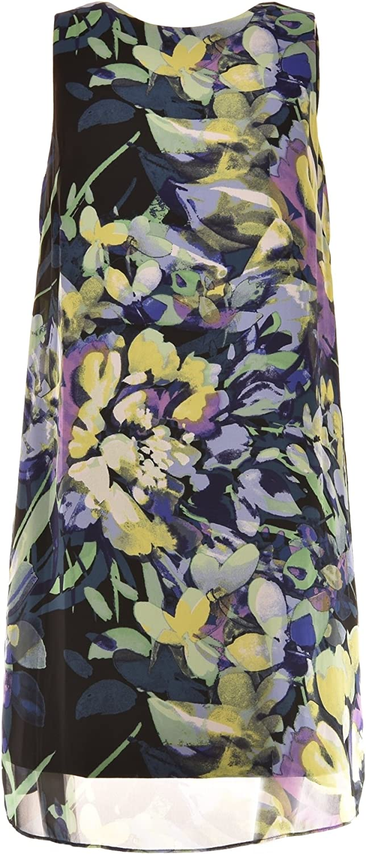Vince Camuto Watercolor Floral Print Sheath Dress Size 0
